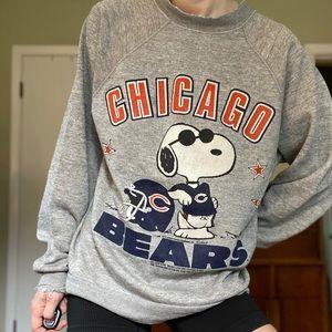 RARE Vintage 1971 Snoopy Chicago Bears Crewneck